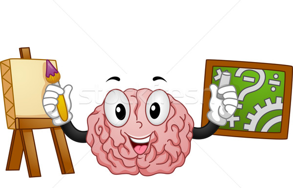 Stock photo: Left Brained Right Brained