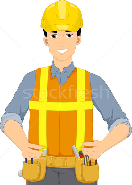 Construction homme illustration engins art Emploi Photo stock © lenm
