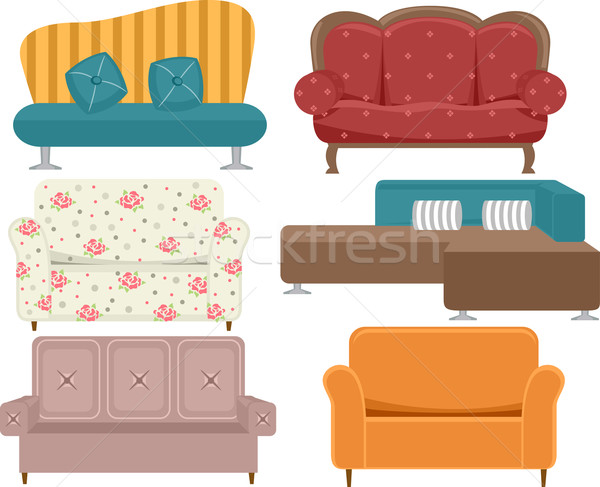 Different Sofas Stock photo © lenm