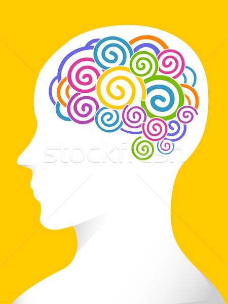 Profile Brain Colors Stock photo © lenm