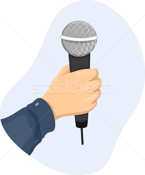 Hand Microphone Stock photo © lenm