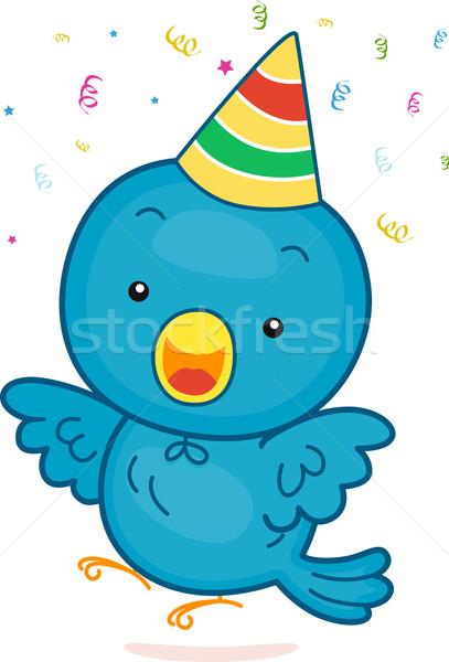 Birthday Bird Stock photo © lenm