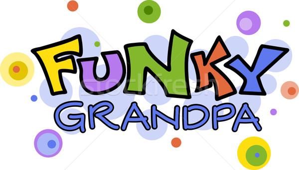 Funky Grandpa Stock photo © lenm