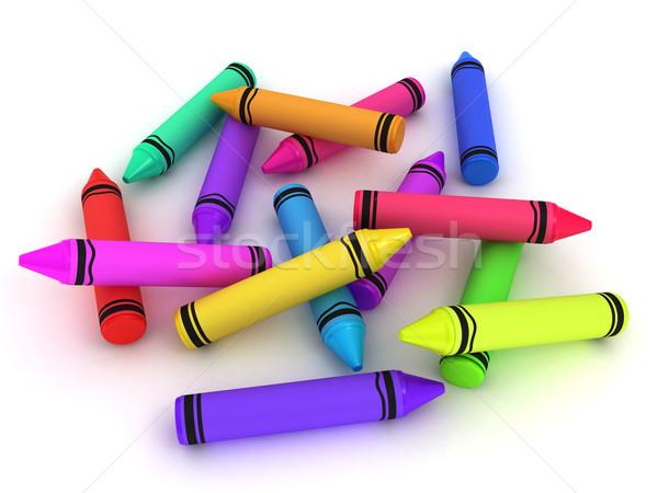 Crayons Stock photo © lenm