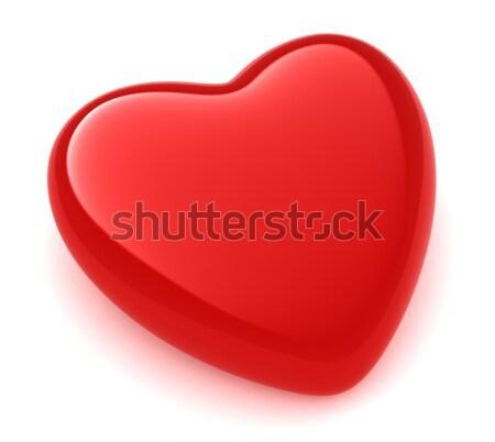 Valentine coração ilustração 3d vermelho amor desenho animado Foto stock © lenm