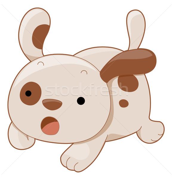 Foto stock: Bonitinho · cão · desenho · animado · animal · de · estimação · mamífero
