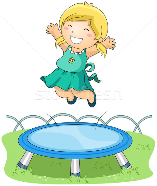 On Trampoline Stock photo © lenm