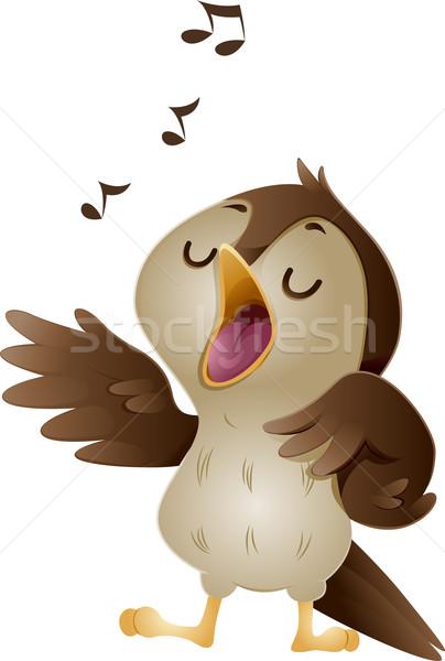 Singing Nightingale Stock photo © lenm