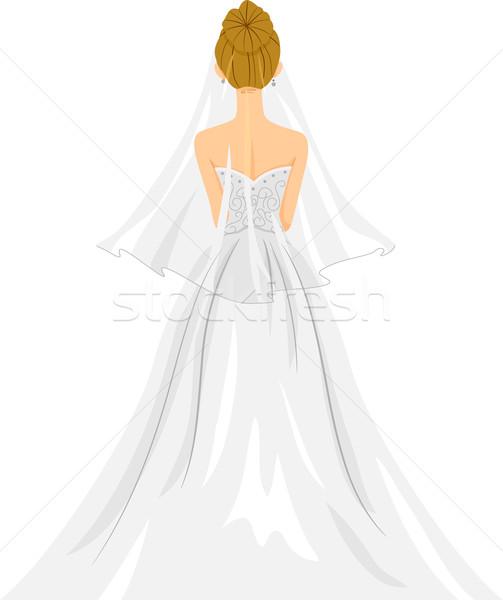 Stock photo: Bride Back View