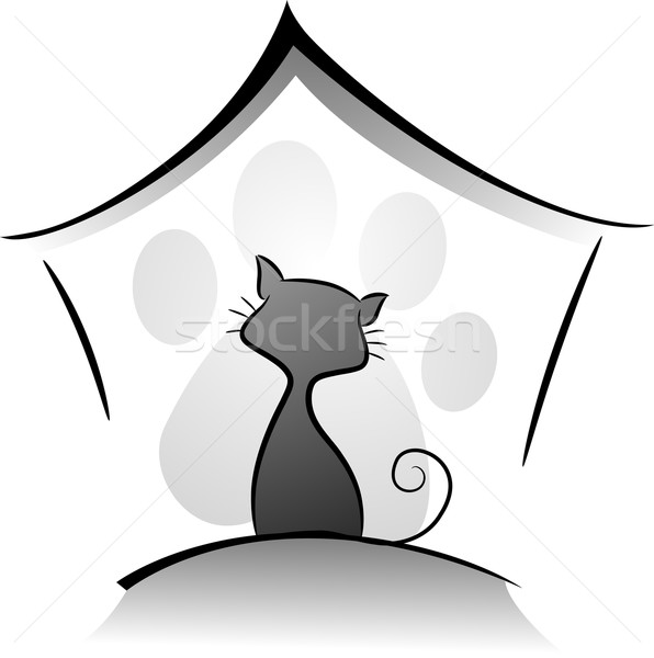 Cattery Icon Stock photo © lenm