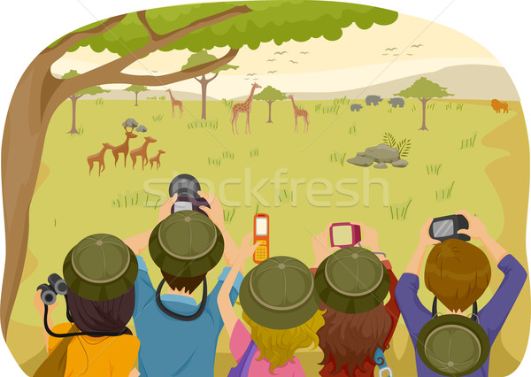Teen Safari Tours Stock photo © lenm