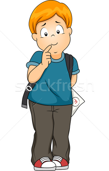 Fracassado corpo ilustração menino preocupado jovem Foto stock © lenm