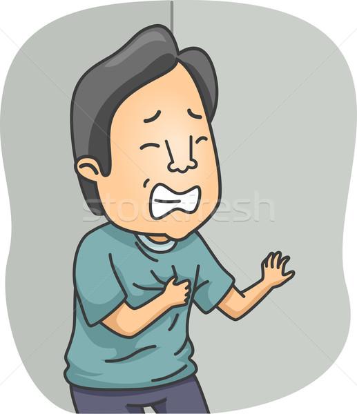 Hartaanval illustratie man medische mannelijke gezondheidszorg Stockfoto © lenm