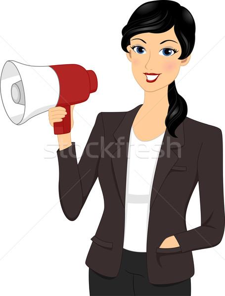 Businesswoman Megaphone Stock photo © lenm