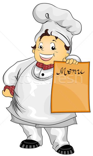 Рисунок поваренка для меню