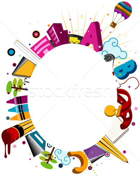 Education Frame vector illustration © lenm (#596697 ...