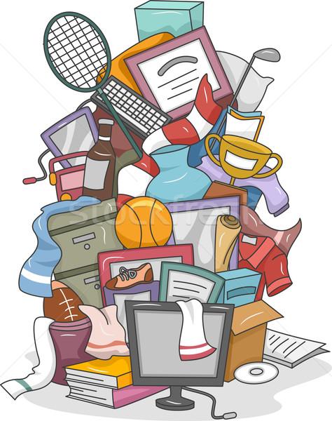 Azar ilustración enorme ordenador objetos Foto stock © lenm