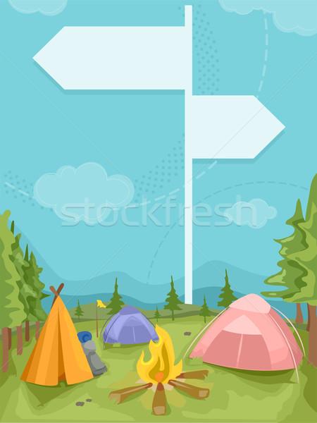 Camp Signage Stock photo © lenm
