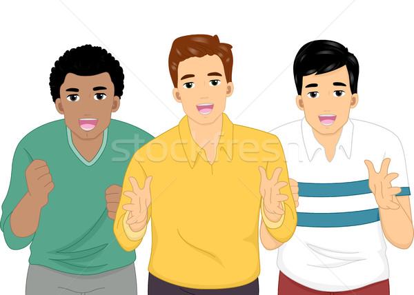Uomini illustrazione gruppo qualcuno faccia Foto d'archivio © lenm