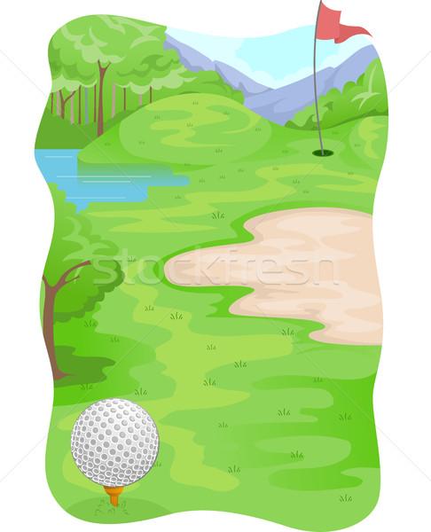 Foto d'archivio: Sport · campo · da · golf · terreno · illustrazione · golf · sfondo