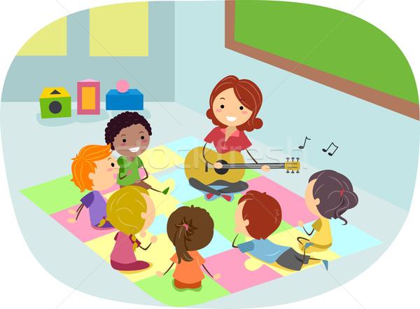 1170127gitarre kinder hören lehrer spielen musik
