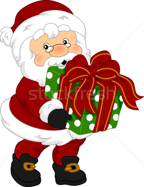 Stock photo: Santa Claus Gift
