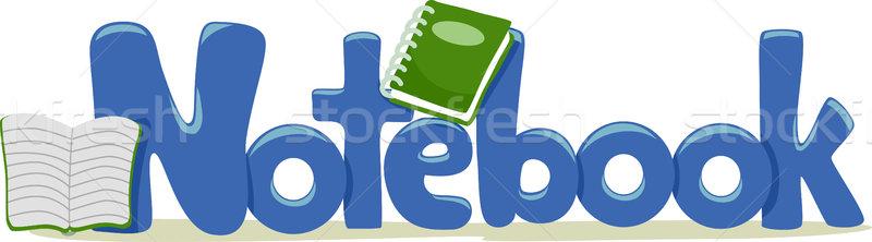 ストックフォト: ノートブック · 文字 · 実例 · 言葉 · 教育 · 手紙