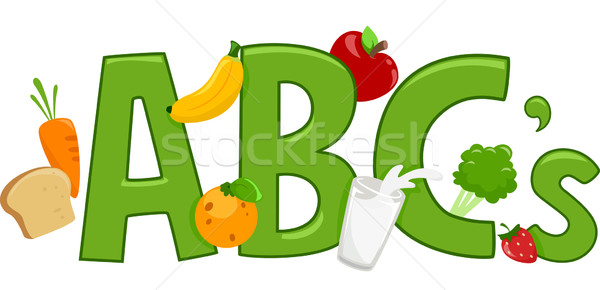 Healthy Food Alphabet Stock photo © lenm