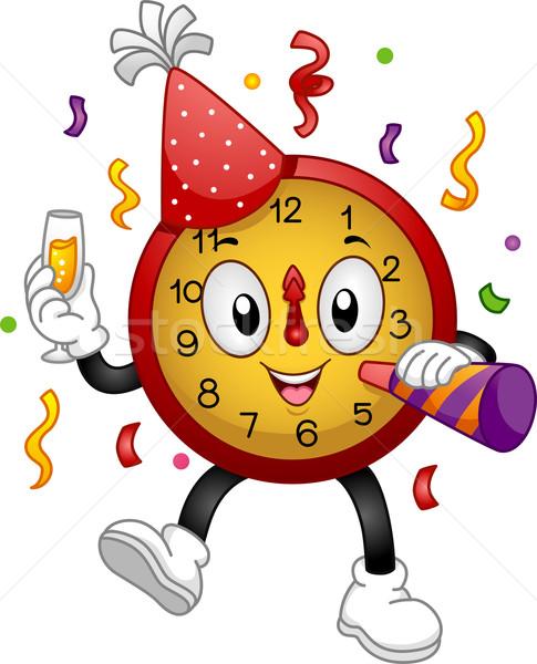 New Year Clock Mascot Stock photo © lenm