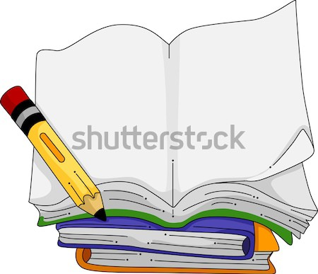 Open notebook illustratie boek achtergrond frame Stockfoto © lenm