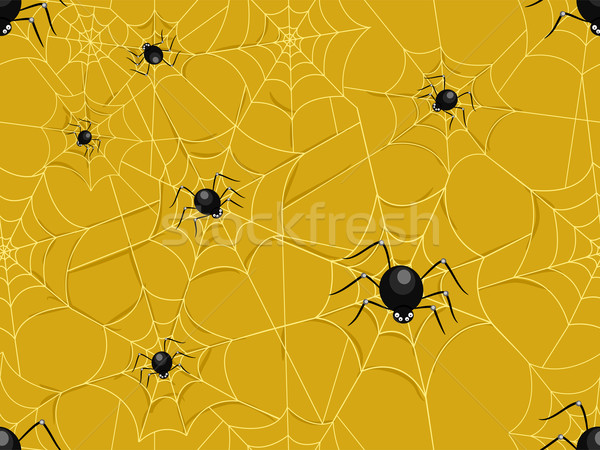 Seamless Spider Webs Stock photo © lenm