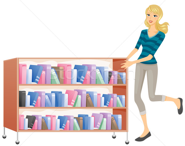 Bookshelf Stock photo © lenm