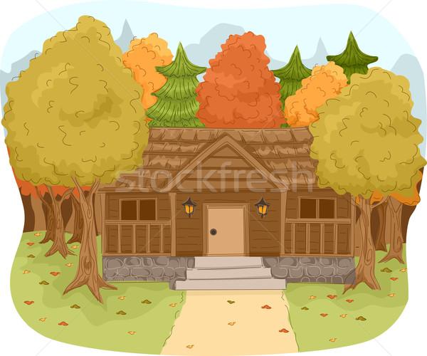 Log Cabin Stock photo © lenm