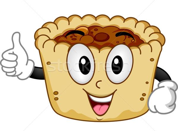 Mascot Butter Tart Stock photo © lenm