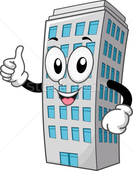 Mascota edificio ilustración arquitectura clipart Foto stock © lenm