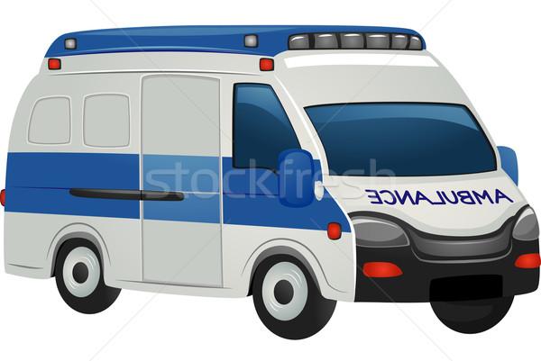 Sanitariusz pogotowia ilustracja stałego wektora ratowania Zdjęcia stock © lenm