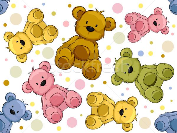 Seamless Teddy Bears Stock photo © lenm