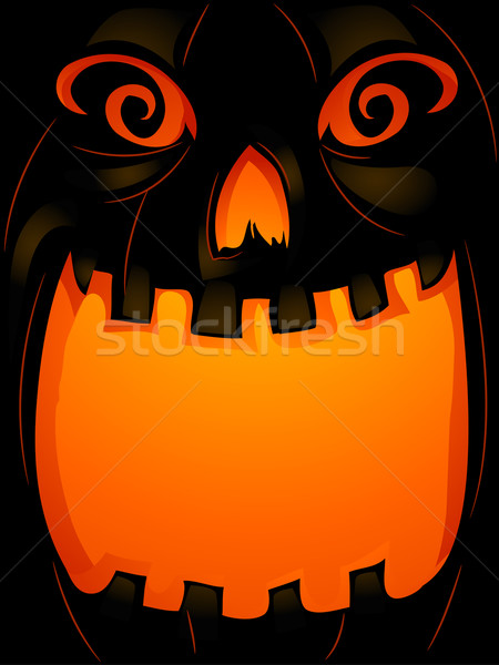 Zucca sfondo halloween illustrazione bocca ampia Foto d'archivio © lenm
