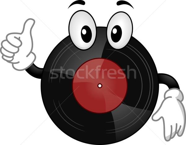 Zdjęcia stock: Winylu · rekord · maskotka · ilustracja · muzyki