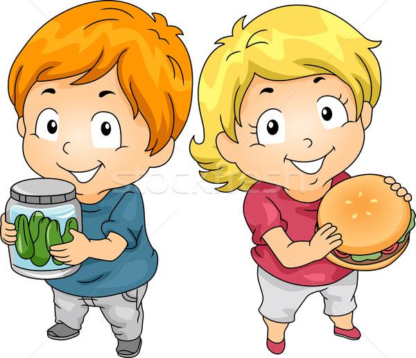 Crianças jarra picles ilustração pequeno masculino Foto stock © lenm