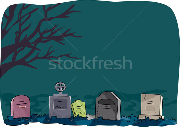 Halloween Tombstone Stock photo © lenm