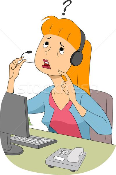 путать девушки иллюстрация мышления вещи микрофона Сток-фото © lenm