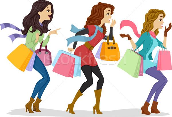 Shopaholics Stock photo © lenm