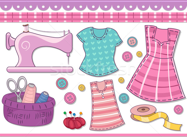 Sewing Scrapbooking Elements Stock photo © lenm