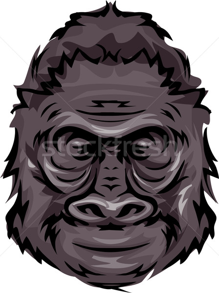 Gorila ilustración deportes empresa animales Cartoon Foto stock © lenm