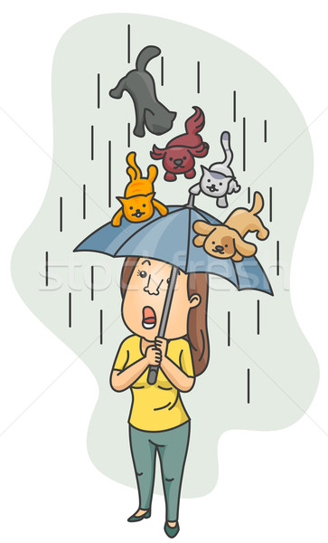 Raining Cats and Dogs Stock photo © lenm