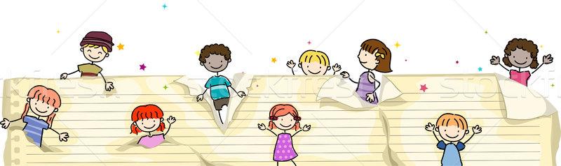 Pop-up Kids Stock photo © lenm