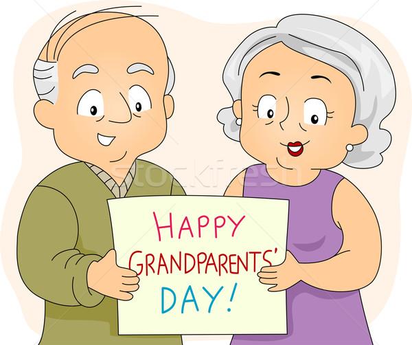 祖父母 日 実例 高齢者 カップル ストックフォト © lenm