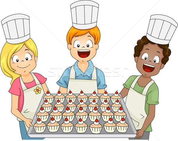 Cupcake Kids Stock photo © lenm