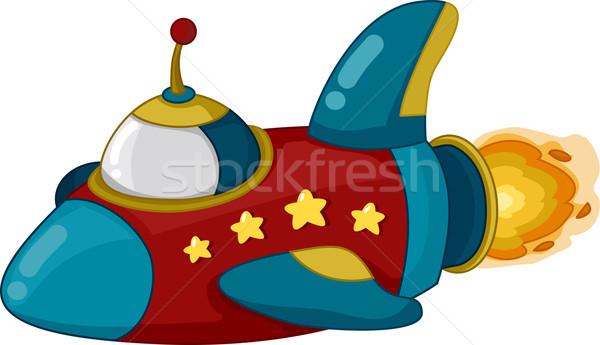 űrhajó illusztráció mozgás tudomány tanulás rajz Stock fotó © lenm